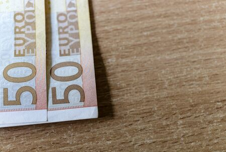 Fifty euro. European currency. Money as background. Macro.