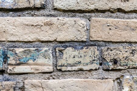 Old brick wall - concept image. Wall as background. Stok Fotoğraf