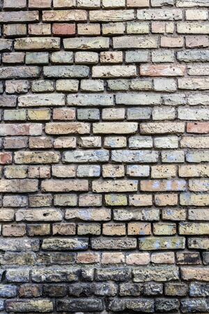 Old brick wall - concept image. Wall as background.