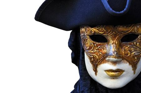 theater mask: Venezia Carnival Mask Stock Photo