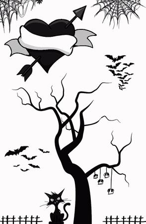 gotico: Amor gótico Vectores