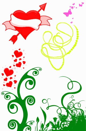 Love Card Vettoriali