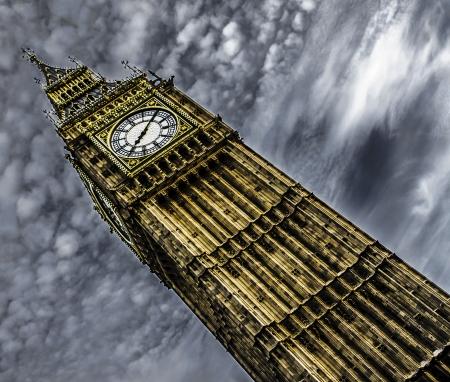 famous paintings: Big Ben Stock Photo