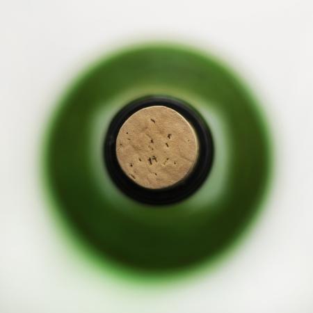 closed corks: Bottle of Wine Stock Photo