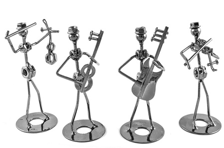 statuette: Instrumental Band Stock Photo