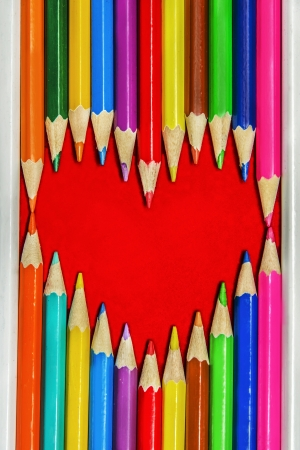 Heart Shape from Pencils photo