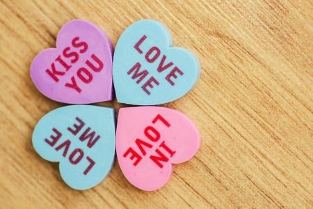 Love message written on Clovers photo