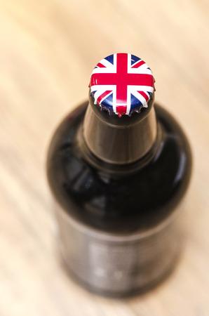 botella de licor: Ingl�s Beer Foto de archivo