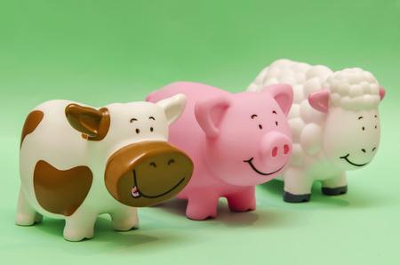 animals together: Farm Animals Toys Stock Photo