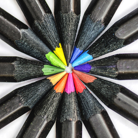 tip up: Black Colored Pencils