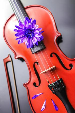 poetic: Artistic Poetic Violin Stock Photo