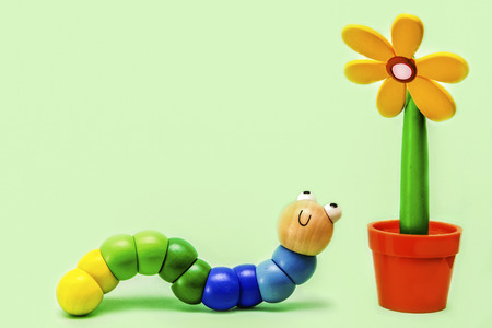 larval: Caterpillar and Flower
