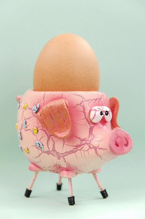 baby's: Pig eggcup