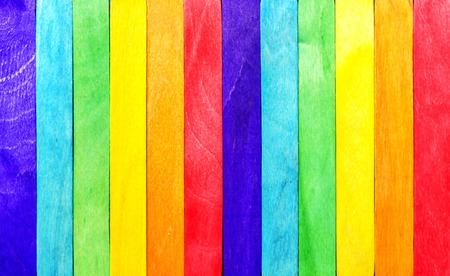 Abstract Rainbow Wood Fence
