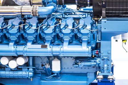 Diesel engine for boat Stock Photo