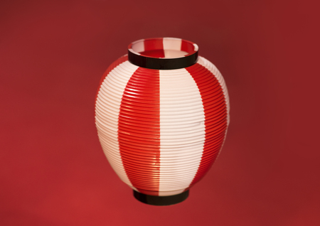 Asian Red Paper Lantern on red background