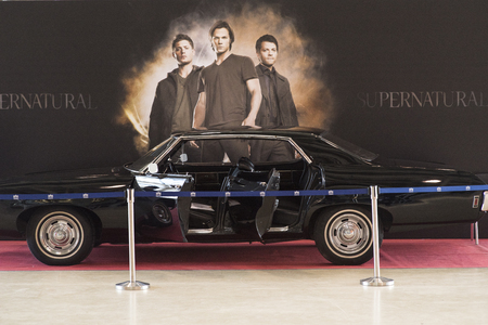 MOSCOW COMIC CON: 1 may 2017, Moscow, Russia Screen used 1969 Chevrolet Impala called Baby used in the CW Television show Supernatural on display.