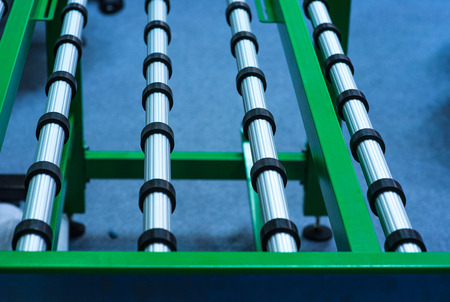 detail of large format roll printing machine Stock Photo