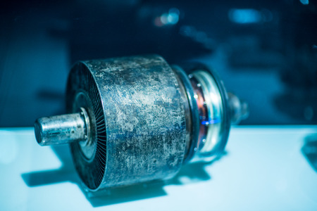 Old retro High-frequency oscillator. Rare detail Stock Photo