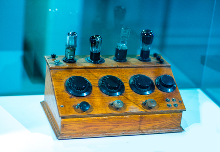 Vintage valve tube amplifier from 1950