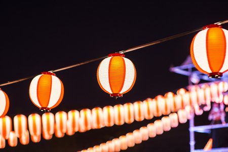 Paper lanterns has been in existent in china, japan and korea for centuries and they are usually made from light materials Abstract background Found in temples, shops, restaurants and in homes