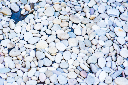 white stone background. cobblestone in nature floor