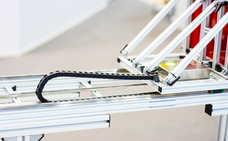 Automation crossing of the roller conveyor Stock Photo