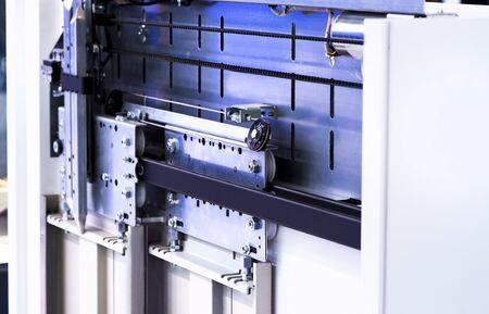 Elevator Installation, Lift Technician Installing a Modern Elevator