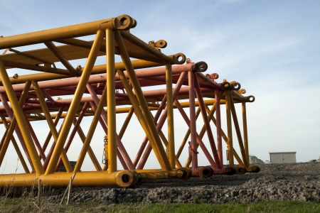 crane parts: Steel crane parts Stock Photo