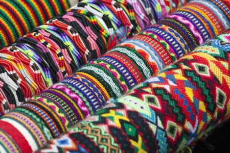 Colorful image of bracelets  photo