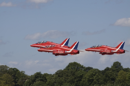 royal air force: The Royal Air Force Aerobatic Team, the Red Arrows