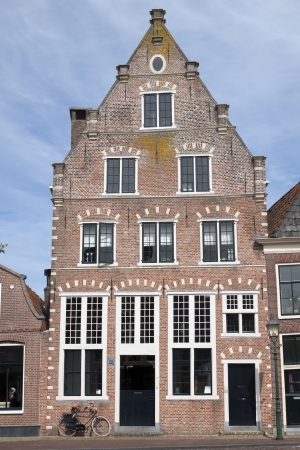 hoorn: Single old house on the habour of the Dutch historic town Hoorn