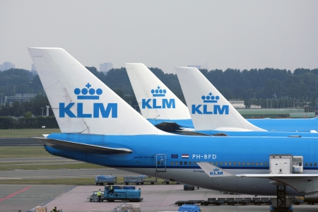 schiphol: KLM planes at Schiphol Airport