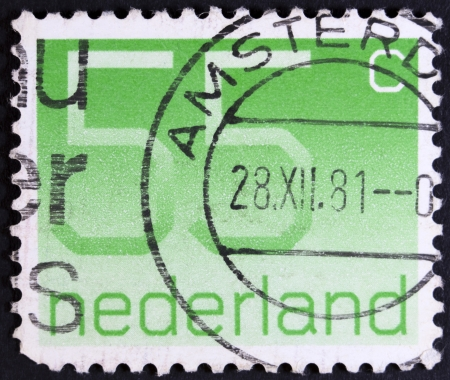 collectible: NETHERLANDS - CIRCA 1982  A stamp printed in the Netherland with a value of forty cents, printed ca 1982  Stock Photo
