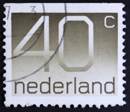philatelic: NETHERLANDS - CIRCA 1982  A stamp printed in the Netherland with a value of forty cents, printed ca 1982  Stock Photo