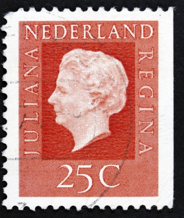 regnant: NETHERLANDS - CIRCA 1969  A stamp printed in Netherlands shows portrait of Queen regnant of Netherlands Juliana with the inscription  Juliana regina , from the series  Queen Juliana , circa 1969