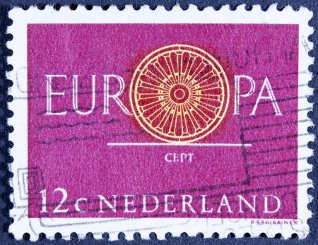 NETHERLANDS - CIRCA 1960  A stamp printed in the Netherlands from the  Europa  issue shows Conference Emblem, circa 1960   photo