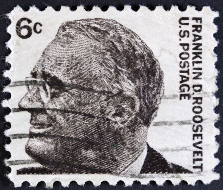 roosevelt: USA - CIRCA 1966 A stamp printed in USA shows image of the Franklin Delano Roosevelt, circa 1966