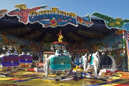 hoorn: HOORN,THE NETHERLANDS - AUGUST 13 ,2014: Colorful fast funfair attraction on August 13,2014 in Hoorn.