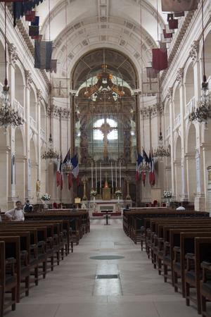 PARIS, FRANCE - JULY 23, 2017: Chapel of Saint Louis des Invalides Chapel built in 1679 is the burial site for some of Frances war heroes, Napoleon Bonaparte.