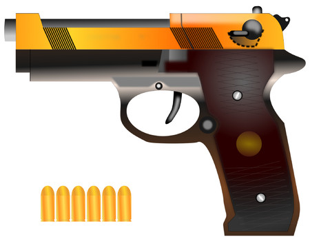Pistol with custom colors