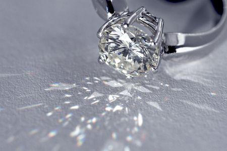 Sparkling two carat diamond engagement ring