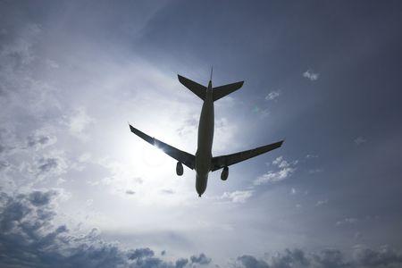 Airplane silhoutte