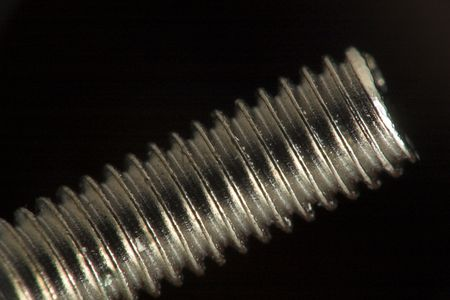 Close up of a screw Stock Photo