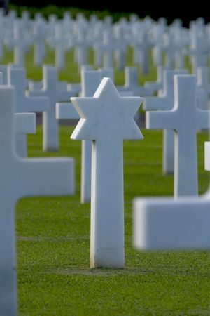 Star of David World War two Manila American Cemetery and Memorial, Philippines Stock Photo