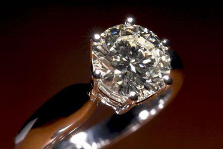 Two carat diamond engagement ring