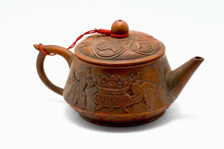 Red clay Chinese tea pot