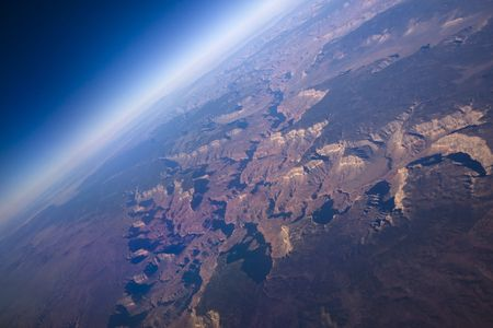Sunrise view of the Grand Canyon North and South rim