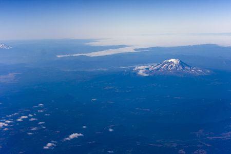 Mount Rainer in Washington State USA Stock Photo