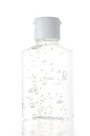 sanitizer: Hand sanitizer in plastic bottle on white isolated background Stock Photo